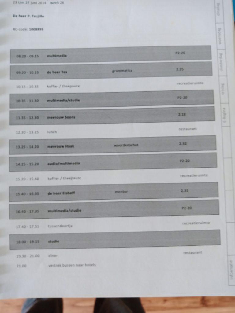 Programa diario en Regina Coeli